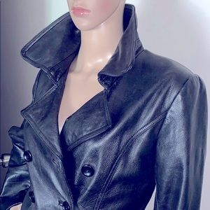 😍Double Breasted Bottoms Leather Jacket😍
